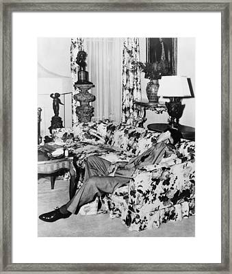 Benny Bugsy Siegel 1906-1947, Shot Dead Framed Print by Everett