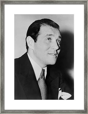 Benny Bugsy Siegel In 1947, The Year Framed Print