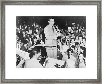 Benny Goodman 1909-86, Playing Framed Print by Everett