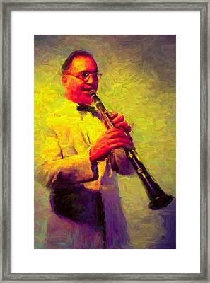 Benny Goodman Framed Print by Caito Junqueira