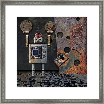 Benny Shows His Strength Framed Print by Joan Ladendorf