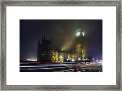 Ben's Fog Framed Print by Thomas Zimmerman
