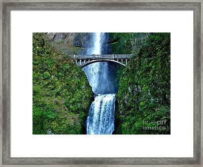 Benson Foot Bridge At Multnomah Falls Near Portland Oregon Framed Print by D S Images