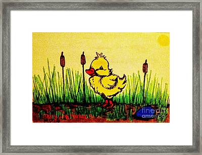 Benson The Duck Framed Print by MaryLee Parker