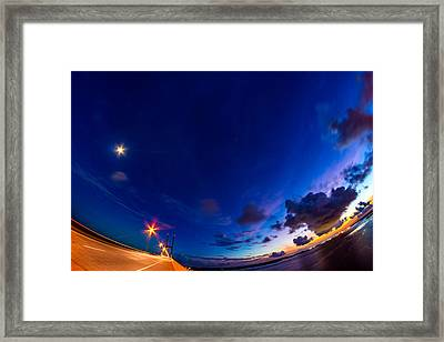 Bent Around The Sidney Lanier Bridge Framed Print by Chris Bordeleau