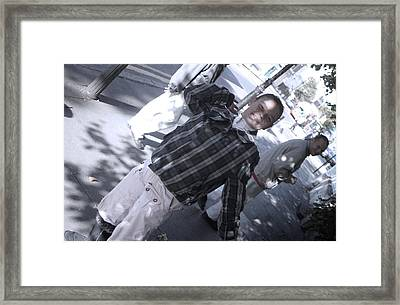 Bent Back To The Streets Framed Print by Jez C Self