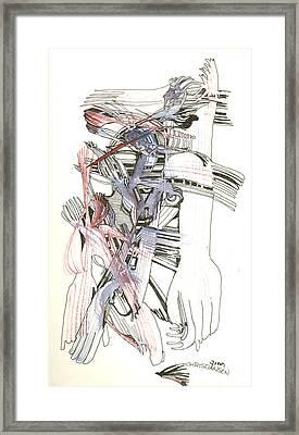 Bent Forks In Hand Framed Print by James Christiansen