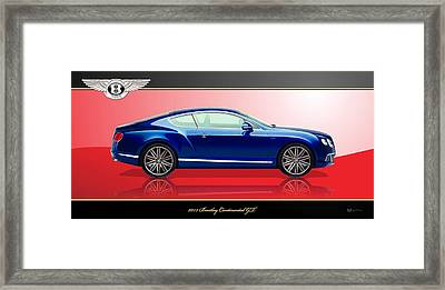 Bentley Continental Gt With 3d Badge Framed Print by Serge Averbukh