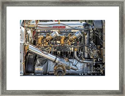 Bentley Engine Framed Print by Tim Gainey