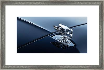 Framed Print featuring the digital art Bentley Flying B by Douglas Pittman