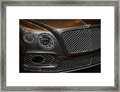 Bentley Front End Framed Print