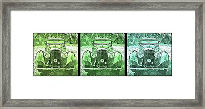 Bentley Green Pop Art Triple Framed Print