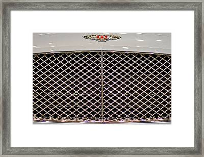 Bentley Grille And Insignia Framed Print