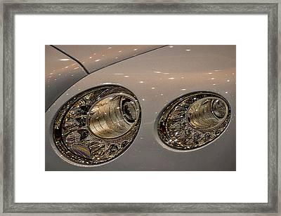 Bentley Headlights Framed Print