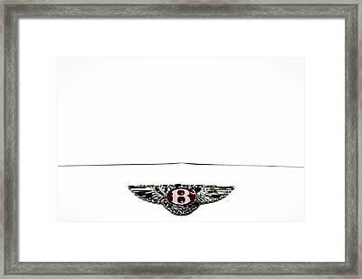 Bentley Insignia Framed Print