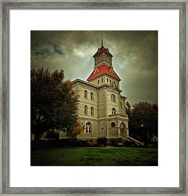 Benton County Courthouse Framed Print by Thom Zehrfeld