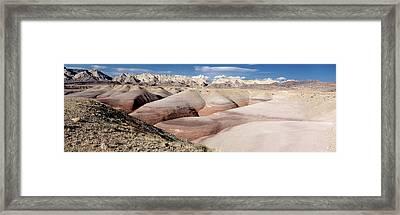 Bentonite Mounds Framed Print