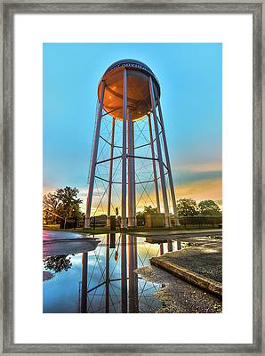 Bentonville Arkansas Water Tower After Rain Framed Print