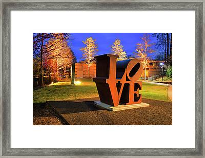 Bentonville Love - Crystal Bridges Art Museum Framed Print