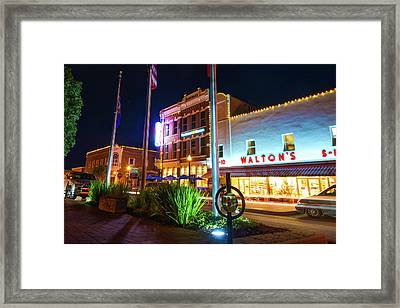 Bentonville Town Square - Color Framed Print