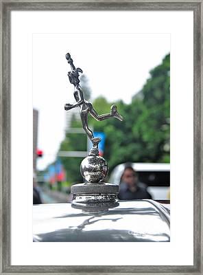 Benz 1916 Ds2 - Hood Ornament Framed Print by Kaye Menner