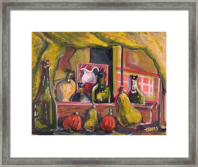 Before And After Dinner Framed Print by Dennis Tawes