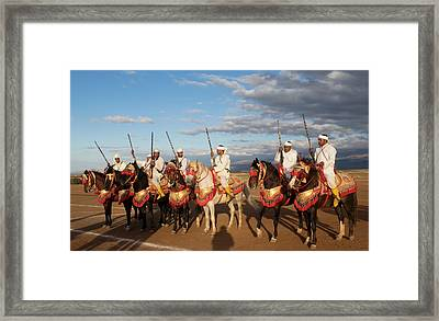 Berber Horsemen Lined Framed Print by Panoramic Images