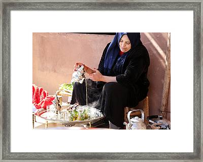 Framed Print featuring the photograph Berber Woman by Andrew Fare
