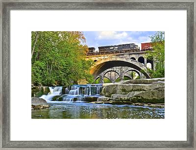 Berea Falls And Train Framed Print
