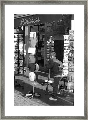 Beret Buying Framed Print by Jez C Self