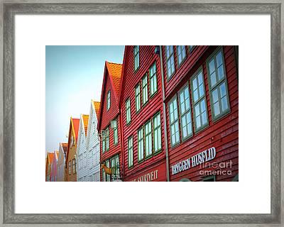 Bergen Brygge Framed Print