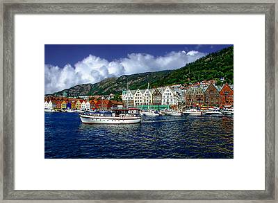 Bergen - Norway Framed Print by Anthony Dezenzio