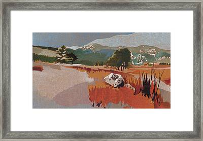 Bergen Peak First Snow Framed Print