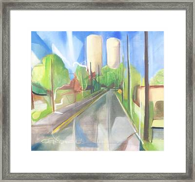 Bergen Turnpike  Framed Print by Ron Erickson