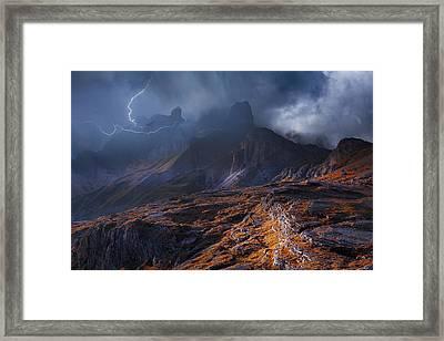 Bergwetter Framed Print by Franz Schumacher