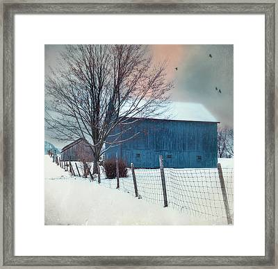 Berkshire Winter Blues Framed Print by Thomas Schoeller