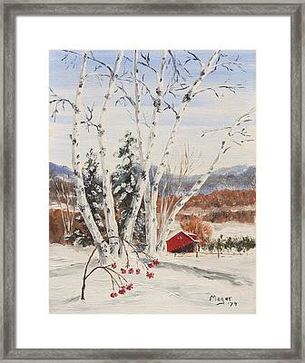 Berkshire Winter II Framed Print