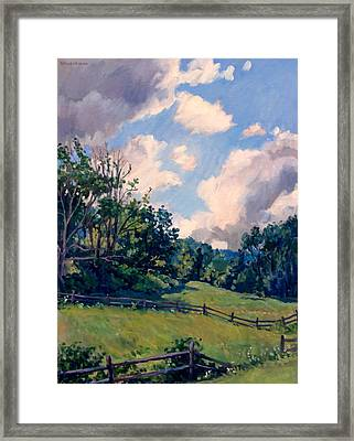 Berkshires Backlight Framed Print