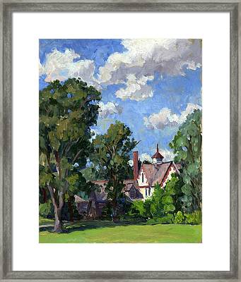 Berkshires Cottage Framed Print