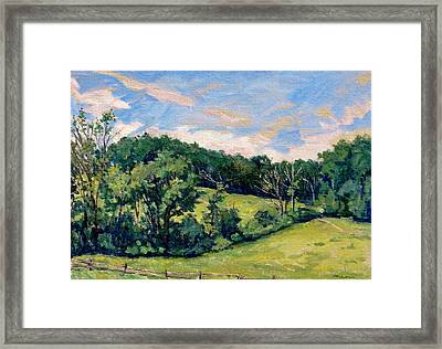 Berkshires Hillside Framed Print