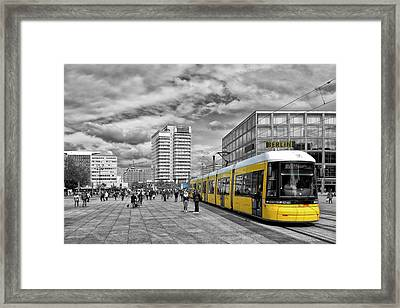 Berlin Alexanderplatz Edition Framed Print by Joachim G Pinkawa