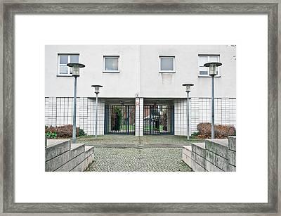 Berlin Apartment Building Framed Print by Tom Gowanlock
