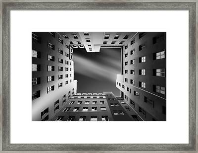 Berlin Backyards Framed Print by Carsten Velten