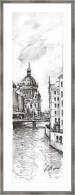 Berlin Black And White View On The Speer Framed Print by Georgi Charaka