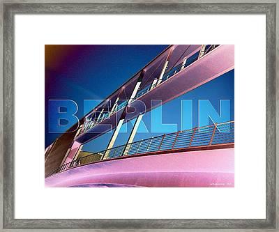 Berlin Bridge At The Reichstagsufer Framed Print by Lars Van Core