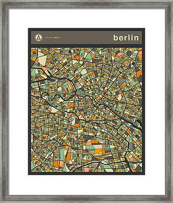 Berlin City Map Framed Print