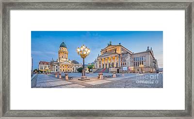 Berlin Gendarmenmarkt Square At Dusk Framed Print