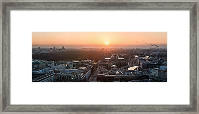 Berlin - Government District Panorama Framed Print