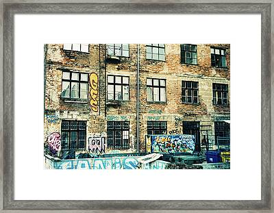 Berlin House Wall With Graffiti  Framed Print