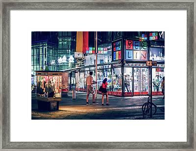 Berlin - Kurfuerstendamm / Neues Kranzler Eck Framed Print